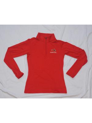 Ladies ES Sport 1/4 Zip Red